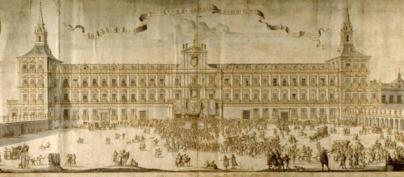 Proclamación de Felipe V en el Alcázar de Madrid, 30 de noviembre de 1701.