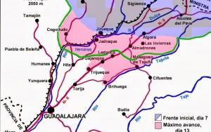 Plano Batalla de Guadalajara