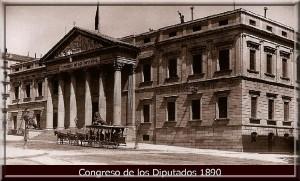 CONGRESO DIPUTADOS MADRID 1890